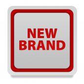 New brand square icon on white background — Stock Photo