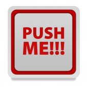 Push me square icon on white background — Stock Photo