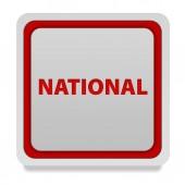 National square icon on white background — Stockfoto