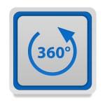360 degrees square icon on white background — Stock Photo #71474509