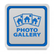 Photo galery square icon on white background — Stock Photo #71475273
