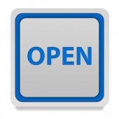 Open square icon on white background — Stock Photo