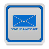 Send square icon on white background — Stock Photo
