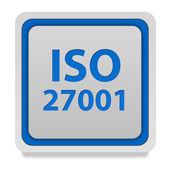 Iso 27001 square icon on white background — Stock Photo