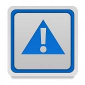 Danger square icon on white background — Stock Photo
