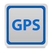 Gps square icon on white background — Stock Photo