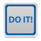 Do it square icon on white background — Stock Photo