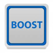 Boost square icon on white background — Stockfoto