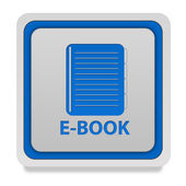 E-book square icon on white background — Stock Photo