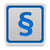 Law square icon on white background — Stockfoto