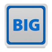 Big square icon on white background — Stock Photo