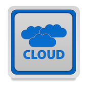 Cloud square icon on white background — Stock Photo