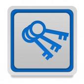 Key square icon on white background — Stock Photo