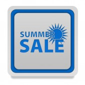 Summer sale square icon on white background — Stockfoto
