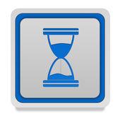 Hourglass square icon on white background — Stock Photo