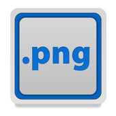 .png square icon on white background — Stock Photo