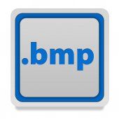 .bmp square icon on white background — Stock Photo