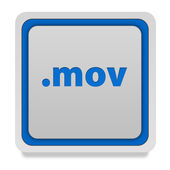 .mov square icon on white background — Stock Photo