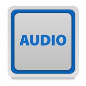 Audio square icon on white background — Stock Photo