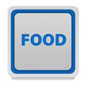 Food square icon on white background — Stockfoto