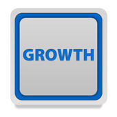 Growth square icon on white background — Stock Photo