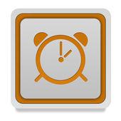Alarm square icon on white background — Stock Photo