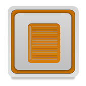 Notebook square icon on white background — Stock Photo