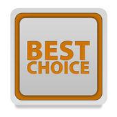 Best choice square icon on white background — Stockfoto