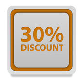 Discount thirty percent square icon on white background — Stock Photo