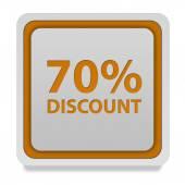 Discount seventy percent square icon on white background — Stock Photo