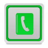 Phonebook square icon on white background — Стоковое фото