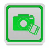 Camera square icon on white background — Stock Photo