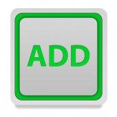 Ajouter icône carré sur fond blanc — Photo