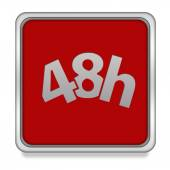 48 hours square icon on white background — Stock Photo