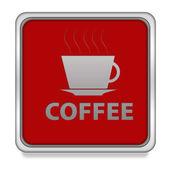 Coffee square  icon on white background — Stock Photo