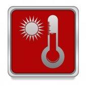 Sun square icon on white background — Stock Photo