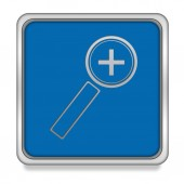 Zoom in square icon on white background — Stock Photo