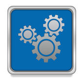 Settings square icon on white background — Stock Photo
