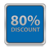 Discount eighty percent square icon on white background — Stock Photo