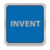 Invent square icon on white background — Stock Photo