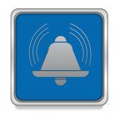 Alarm square icon on white background — Stockfoto