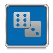 Game square icon on white background — Stock Photo
