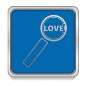 Find love square icon on white background — Stock Photo