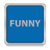Funny square icon on white background — Stock Photo