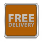Free delivery square icon on white background — Stock Photo