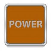 Символ квадрата власти на белом фоне — Стоковое фото