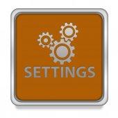 Setting square icon on white background — Stock Photo