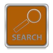 Search square icon on white background — Stock Photo