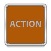 Action square icon on white background — Stock Photo