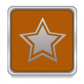 Star  square icon on white background — Stock Photo